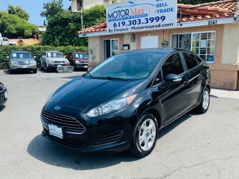 2016 Ford Fiesta for sale at MotorMax in Lemon Grove CA
