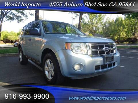 2008 Ford Escape Hybrid for sale at World Imports in Sacramento CA