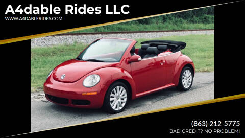 2009 Volkswagen New Beetle Convertible for sale at A4dable Rides LLC in Haines City FL