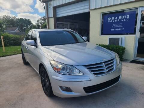 2010 Hyundai Genesis for sale at O & J Auto Sales in Royal Palm Beach FL