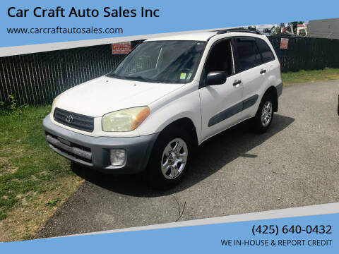 2001 Toyota RAV4 for sale at Car Craft Auto Sales Inc in Lynnwood WA