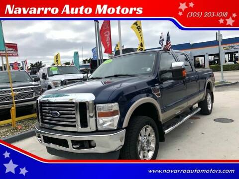 2010 Ford F-250 Super Duty for sale at Navarro Auto Motors in Hialeah FL