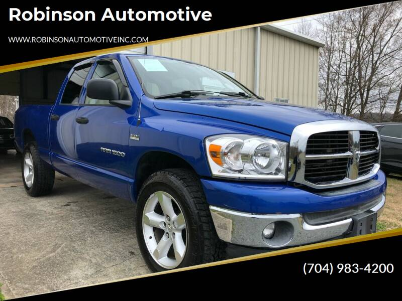 2007 Dodge Ram Pickup 1500 for sale at Robinson Automotive in Albemarle NC