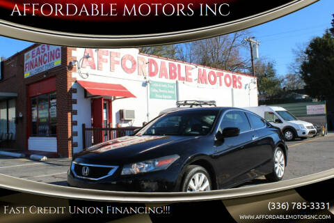 2009 Honda Accord for sale at AFFORDABLE MOTORS INC in Winston Salem NC