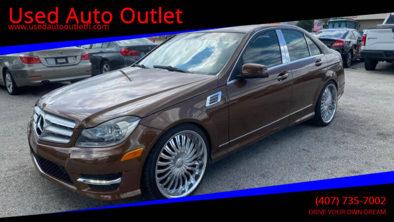 2013 Mercedes-Benz C-Class for sale at Used Auto Outlet in Orlando FL