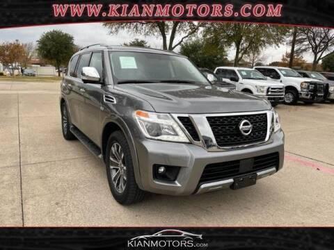 2019 Nissan Armada for sale at KIAN MOTORS INC in Plano TX