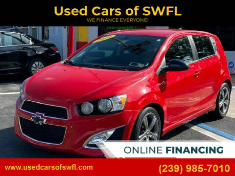 2014 Chevrolet Sonic for sale at Used Cars of SWFL in Fort Myers FL