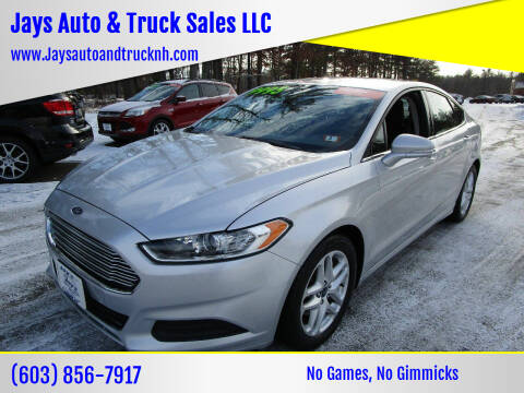 2014 Ford Fusion for sale at Jays Auto & Truck Sales LLC in Loudon NH