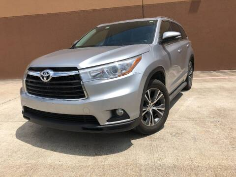 2016 Toyota Highlander for sale at ALL STAR MOTORS INC in Houston TX