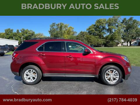 2017 Chevrolet Equinox for sale at BRADBURY AUTO SALES in Gibson City IL