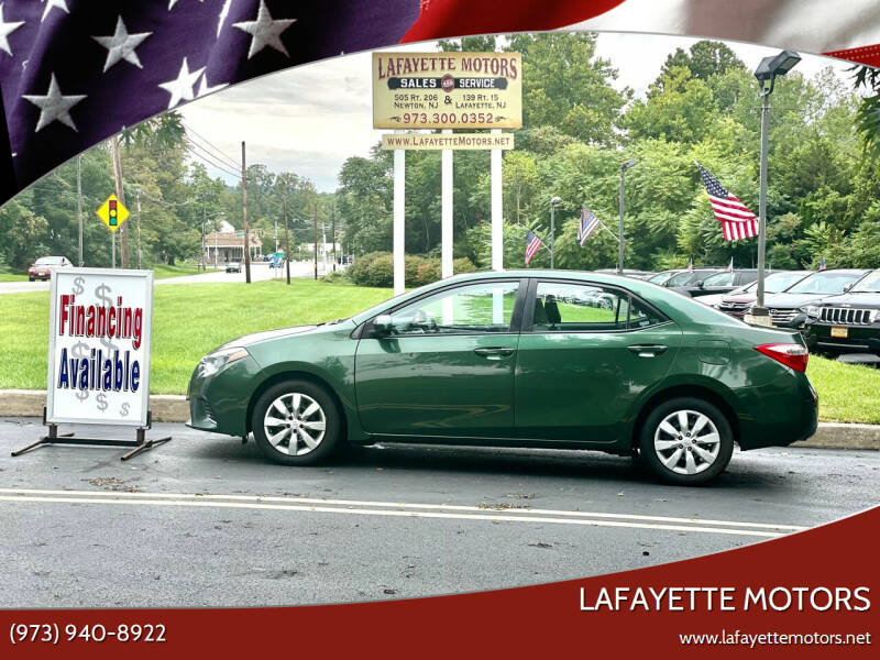 2015 Toyota Corolla for sale at Lafayette Motors 2 in Andover NJ