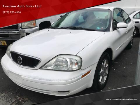 2002 Mercury Sable for sale at Corazon Auto Sales LLC in Paterson NJ