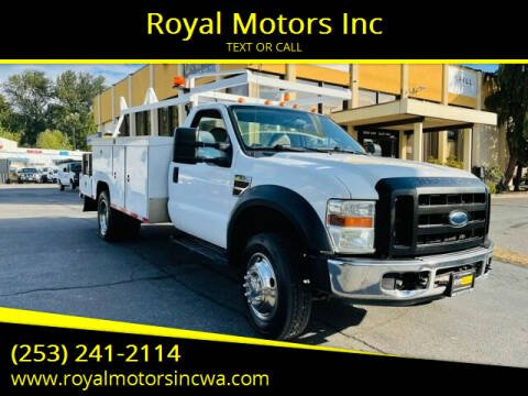 2008 Ford F-550 Super Duty for sale at Royal Motors Inc in Kent WA