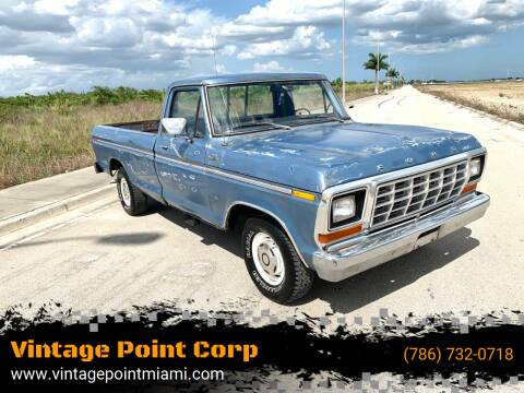 1979 Ford F-150 for sale at Vintage Point Corp in Miami FL