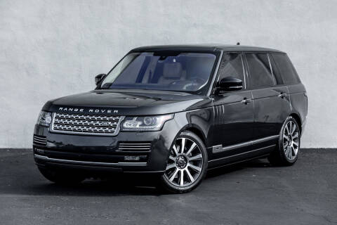 2016 Land Rover Range Rover for sale at Nuvo Trade in Newport Beach CA