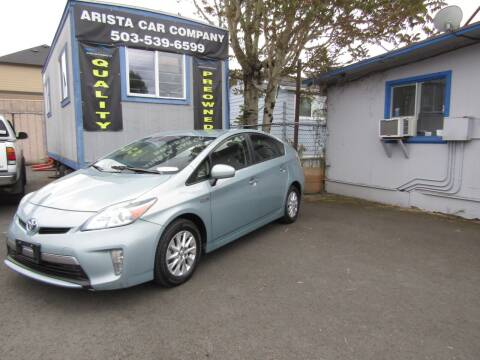 2013 Toyota Prius Plug-in Hybrid for sale at ARISTA CAR COMPANY LLC in Portland OR