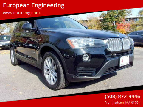 2017 BMW X3 for sale at European Engineering in Framingham MA