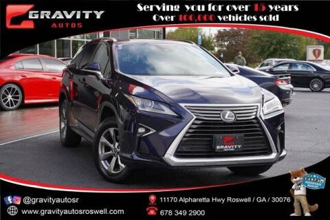 2018 Lexus RX 350L for sale at Gravity Autos Roswell in Roswell GA