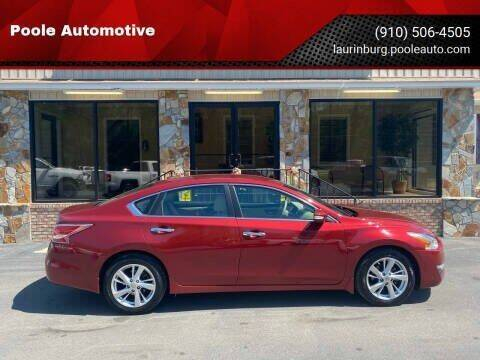 2015 Nissan Altima for sale at Poole Automotive in Laurinburg NC