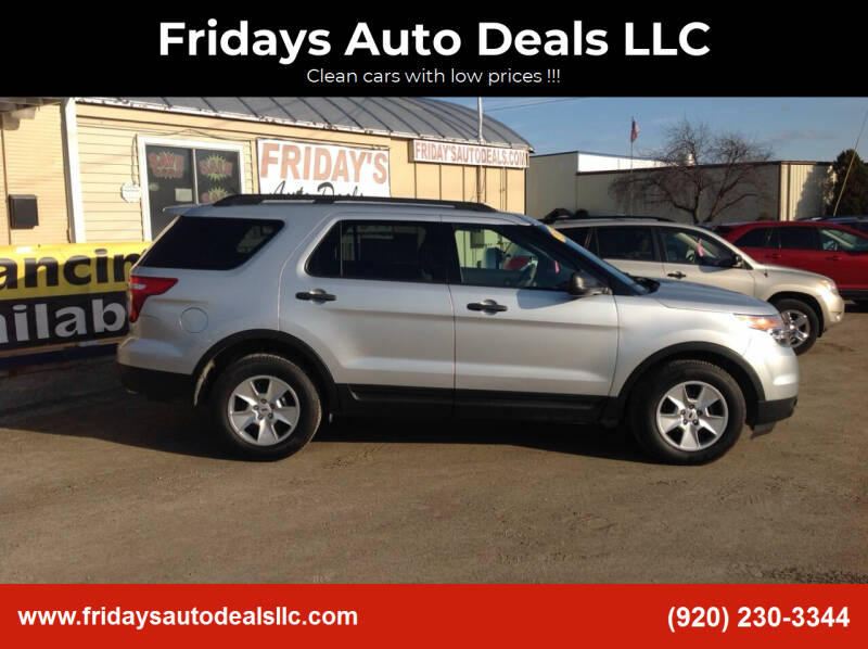 2014 Ford Explorer for sale at Fridays Auto Deals LLC in Oshkosh WI