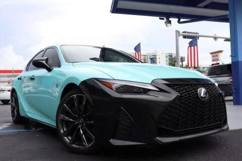 2021 Lexus IS 350 for sale at OCEAN AUTO SALES in Miami FL
