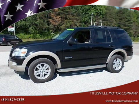 2008 Ford Explorer for sale at Titusville Motor Company in Titusville PA