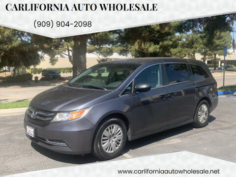2015 Honda Odyssey for sale at CARLIFORNIA AUTO WHOLESALE in San Bernardino CA