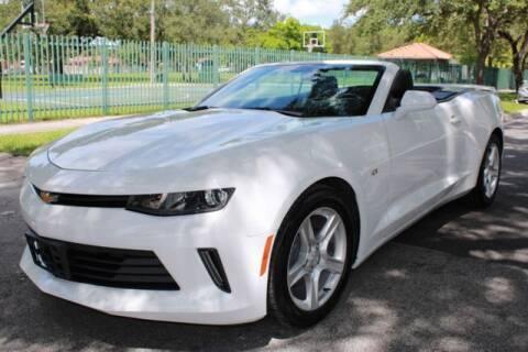 2018 Chevrolet Camaro for sale at OCEAN AUTO SALES in Miami FL