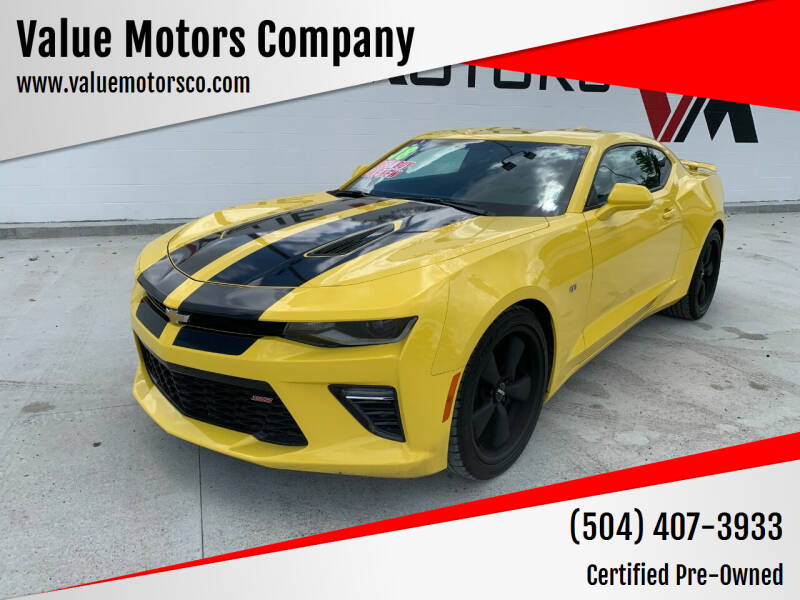 2018 Chevrolet Camaro for sale at Value Motors Company in Marrero LA