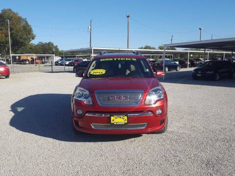 2012 GMC Acadia for sale at Bostick's Auto & Truck Sales in Brownwood TX