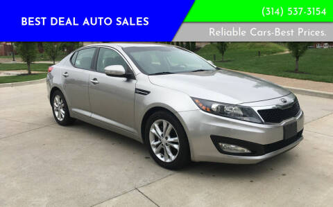 2013 Kia Optima for sale at Best Deal Auto Sales in Saint Charles MO