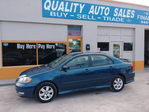 2006 Toyota Corolla for sale at QUALITY AUTO SALES OF FLORIDA in New Port Richey FL