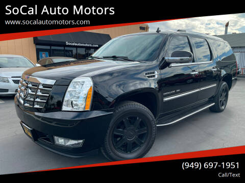 2012 Cadillac Escalade ESV for sale at SoCal Auto Motors in Costa Mesa CA