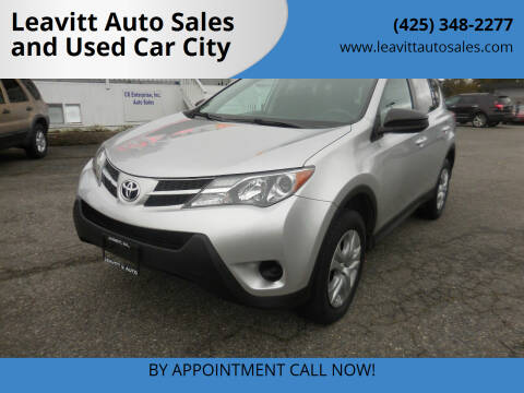 2014 Toyota RAV4 for sale at Leavitt Auto Sales and Used Car City in Everett WA