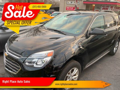 2017 Chevrolet Equinox for sale at Right Place Auto Sales in Indianapolis IN