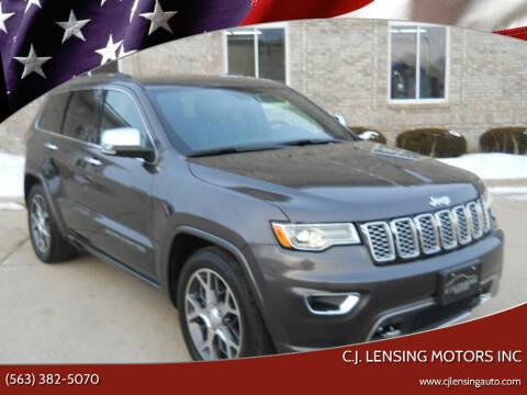 2020 Jeep Grand Cherokee for sale at C.J. Lensing Motors Inc in Decorah IA