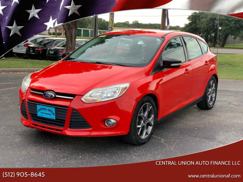 2013 Ford Focus for sale at Central Union Auto Finance LLC in Austin TX