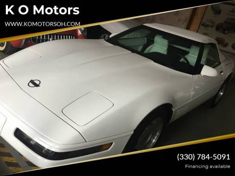 1992 Chevrolet Corvette for sale at K O Motors in Akron OH