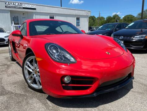 2014 Porsche Cayman for sale at KAYALAR MOTORS in Houston TX