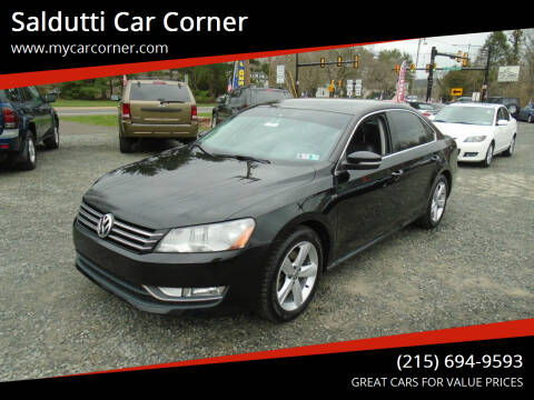 2015 Volkswagen Passat for sale at Saldutti Car Corner in Gilbertsville PA