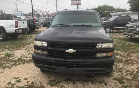 2001 Chevrolet Tahoe for sale at BULLSEYE MOTORS INC in New Braunfels TX