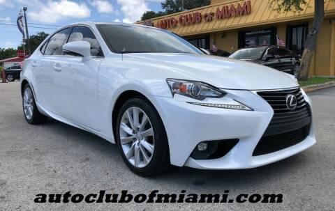 2015 Lexus IS 250 for sale at AUTO CLUB OF MIAMI, INC in Miami FL