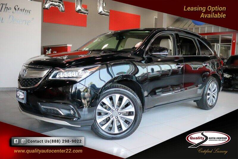 2015 Acura MDX for sale at Quality Auto Center of Springfield in Springfield NJ