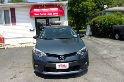 2014 Toyota Corolla for sale at Dave Franek Automotive in Wantage NJ