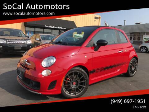 2013 FIAT 500c for sale at SoCal Automotors in Costa Mesa CA