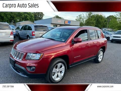 2015 Jeep Compass for sale at Carpro Auto Sales in Chesapeake VA