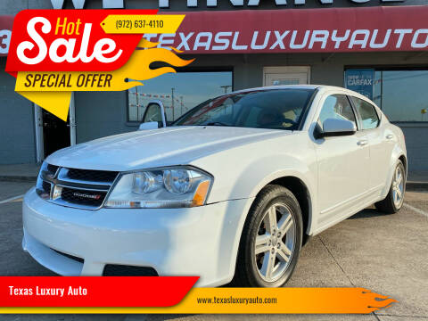 2013 Dodge Avenger for sale at Texas Luxury Auto in Cedar Hill TX