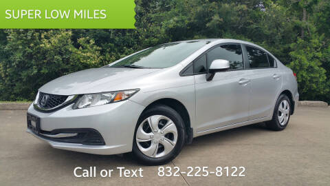 2013 Honda Civic for sale at Houston Auto Preowned in Houston TX