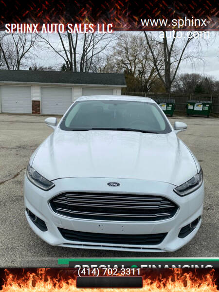 2014 Ford Fusion for sale at Sphinx Auto Sales LLC in Milwaukee WI