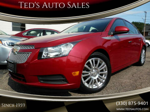 2012 Chevrolet Cruze for sale at Ted's Auto Sales in Louisville OH